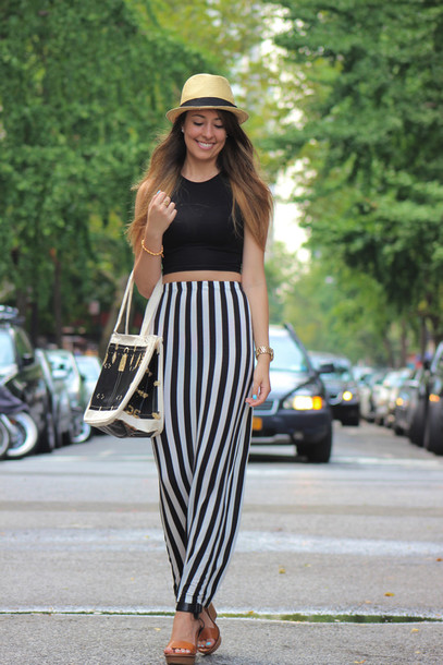 skirt maxi skirt black and white maxi skirt striped skirt
