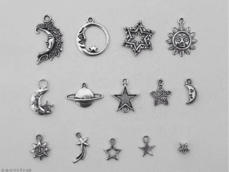 jewels necklace sun pendents snowflake moon moon and sun charms stars shooting star jupiter planet necklace planets