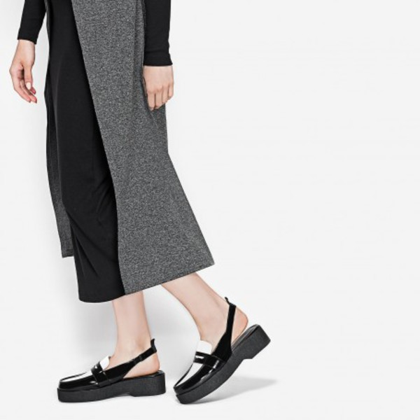 shoes penny loafers loafers black loafers fall shoes black and white charles and keith fall accessories slingbacks