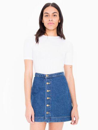 skirt button up denim skirt