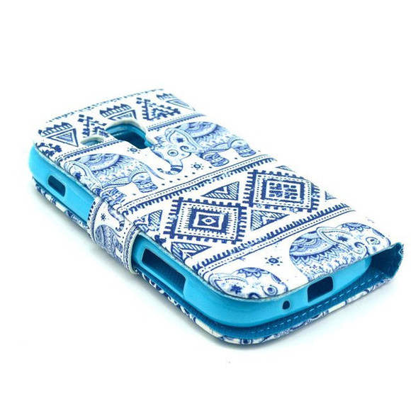 blue and white elefant case phone case samsung galaxy cases samsung galaxy trend