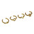LOVE GOLD MIDI RINGS SET – HolyPink