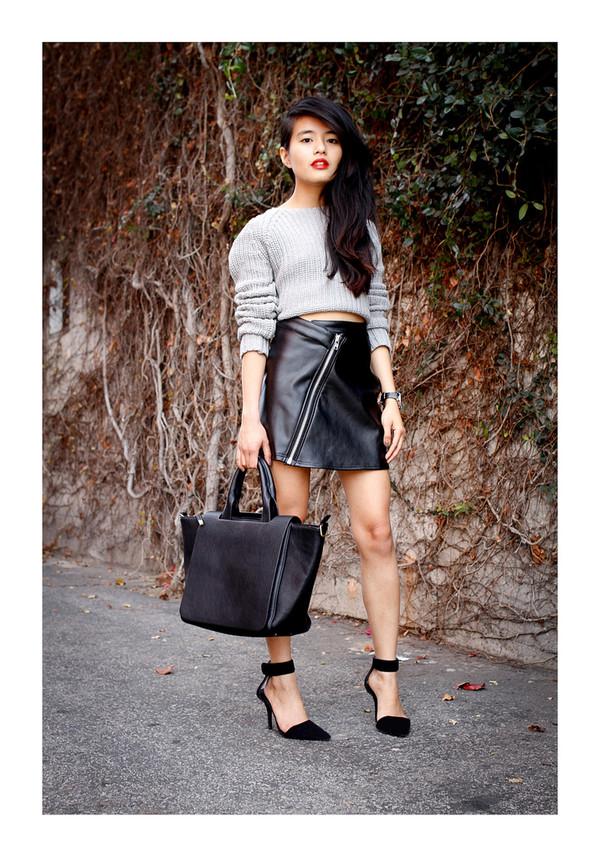 af1eac7af1 Buy Motel Christine PU Leather Mini Skirt in Black at Motel Rocks