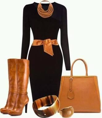 belt shoes bangle ring purse dress accessories black orange brown