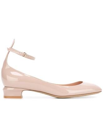 women pumps leather purple pink shoes