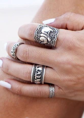 jewels disheefashion ring boho boho ring accessory bohemia vintage silver ring