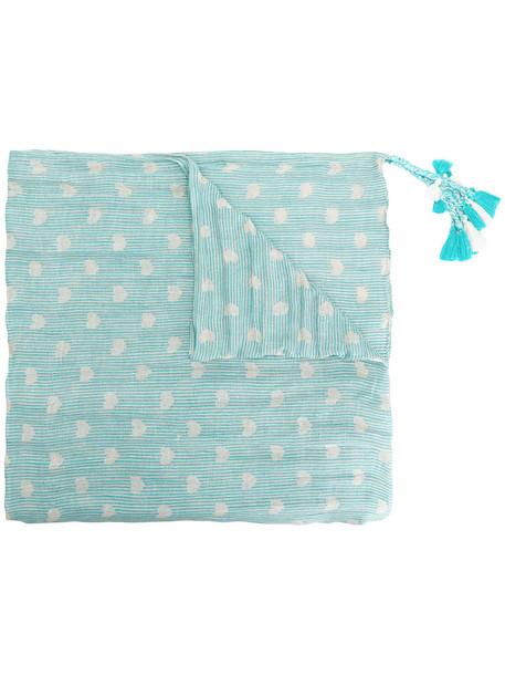 Twin-Set tassel women scarf blue