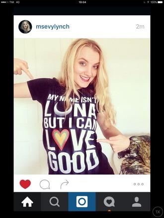 shirt harry potter luna lovegood