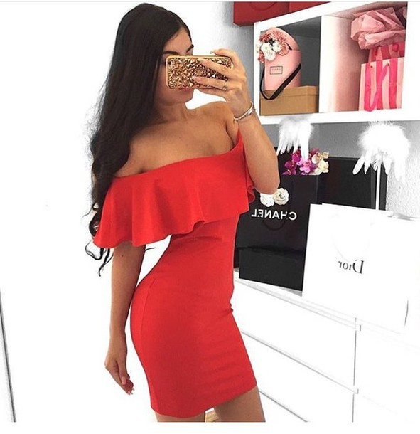 eb69c565b14 dress red dress summer dress cute dress sexy dress short dress party dress  outfit outfit idea