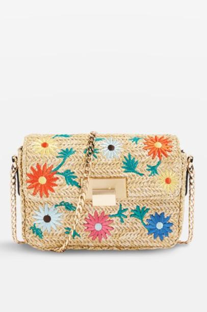 Topshop cross bag floral