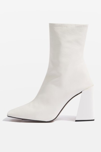 Topshop ankle boots white shoes