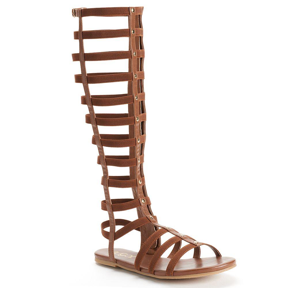 White sandals rubi shoes - Sugar Paire Knee High Gladiator Sandals Women