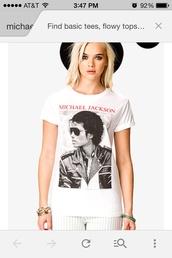 t-shirt,michael jackson