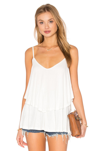 RACHEL PALLY top ruffle white