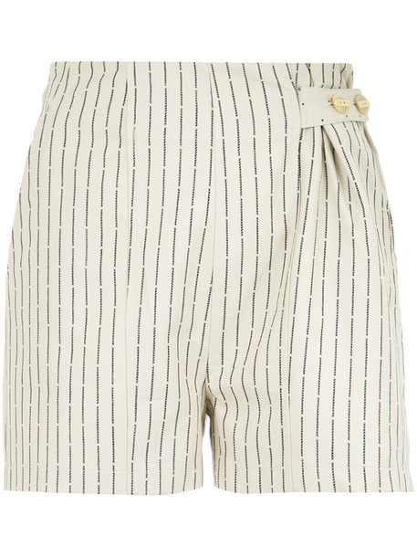 Lilly Sarti shorts striped shorts women nude cotton
