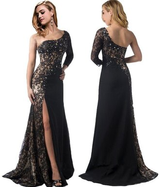 dress one shoudler dress one shoulder party dreses black one shoulder with side lace inset one shoulder homcoming dress
