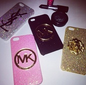 jewels,phone cover,chanel,michael kors,ysl,gold,glitter,pink,silver,newcrystalwaveiphonecase,newcrystalwavebling,newcrystalwave