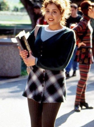 skirt plaid button up skirt clueless