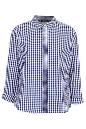 Mix Gingham Shirt - Shirts - Tops - Clothing- Topshop Europe