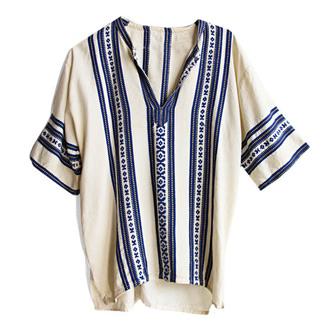 t-shirt tribal pattern indie vintage menswear hipster aztec white vintae