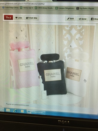 pajamas pink black white chanel pillow chanel pillow coco chanel