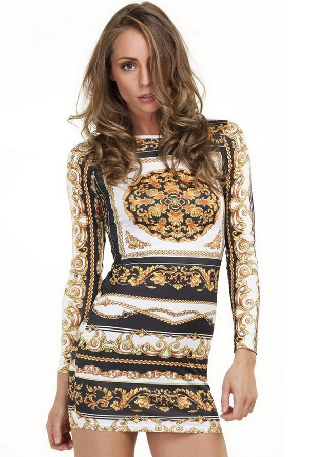 Free shipping retro national printing package hip dress J313-in Dresses from Apparel & Accessories on Aliexpress.com