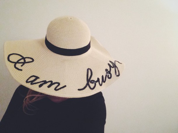 hat wide hat summer hat beach i am busy letter hat im busy custom straw hat 027c6d05d76