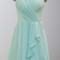 Pretty mint v-neck ruffled short bridesmaid dresses ksp138 [ksp138] - £81.00 : cheap prom dresses uk, bridesmaid dresses, 2014 prom & evening dresses, look for cheap elegant prom dresses 2014, cocktail gowns, or dresses for special occasions? kissprom.co.uk offers various bridesmaid dresses, evening dress, free shipping to uk etc.
