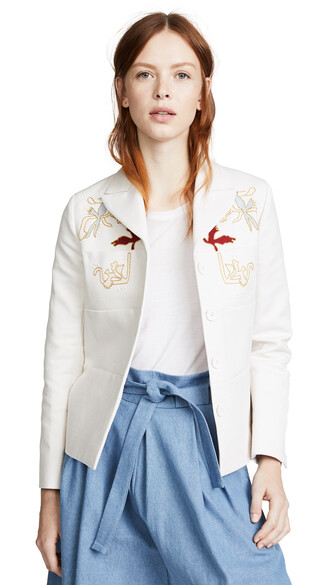 jacket embroidered jacket embroidered