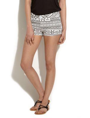 Parisian Aztec Print Hotpant Shorts