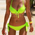 Women Sexy Push up Tie Halter Bow Padded Bra Beach Bikini Swimsuit Set Swimwear | eBay