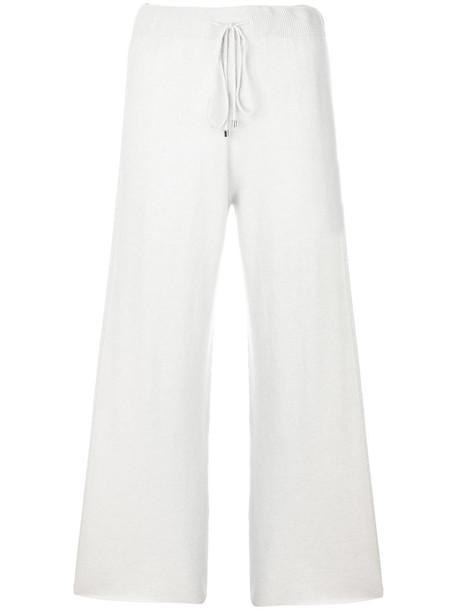 Fabiana Filippi women drawstring silk grey pants