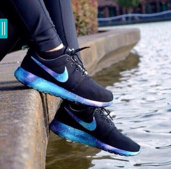 on sale 17e52 9d442 shoes galaxy print roshes nike trainers women.