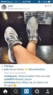 shoes,liquid metal,metallic,silver,sneakers,metallic shoes