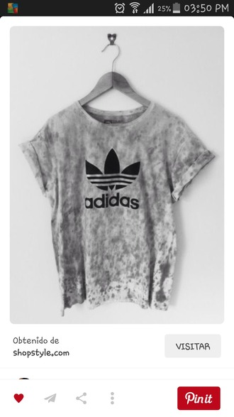 shirt adidas grey white tie dye shirt t-shirt adidas shirt blouse grey t-shirt tie dye black black and white pretty tumblr tumblr shirt cotton vintage graphic tee fashion addict teenagers adidas originals adidas tshirt grey