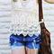 Vintage chic favorite crochet lace beige sexy tank top | ebay
