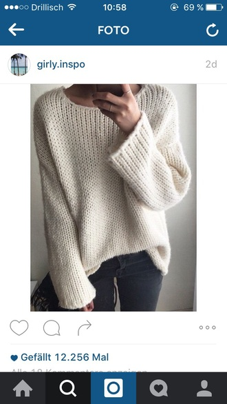 sweater withe white sweater instagram