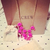 jewels,necklace,pink,gorgeous,stones,j crew
