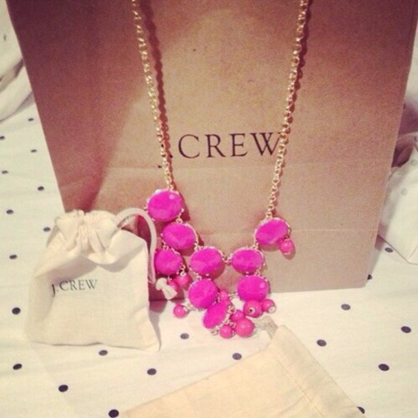 jewels necklace pink gorgeous stones j crew