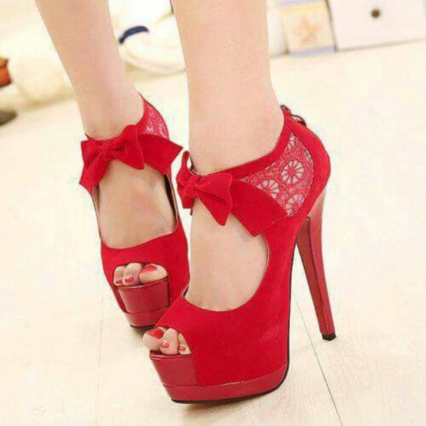 shoes red heels high heels red heels
