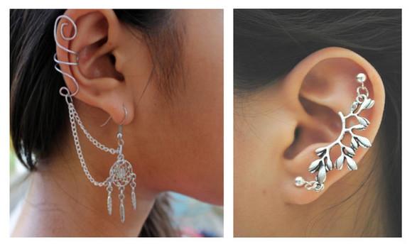 jewels piercing earrings silver ear