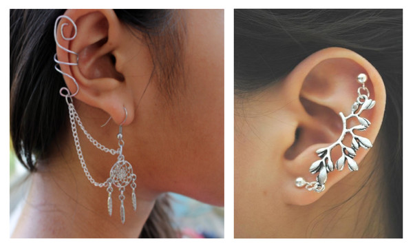 jewels ear earrings silver piercing