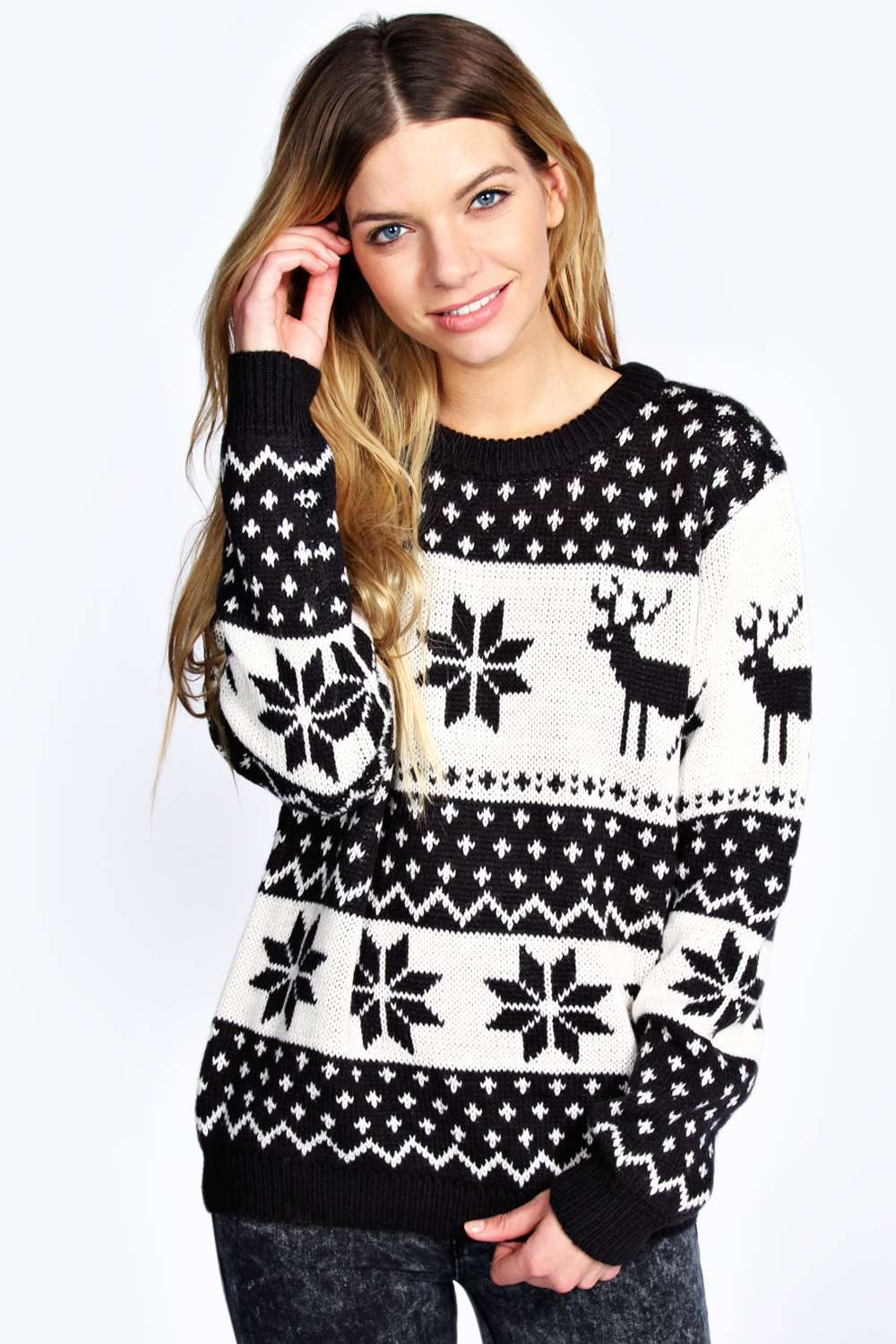 Tilly reindeer and snowflake jumper