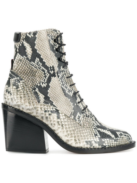 Robert Clergerie snake women lace leather nude shoes