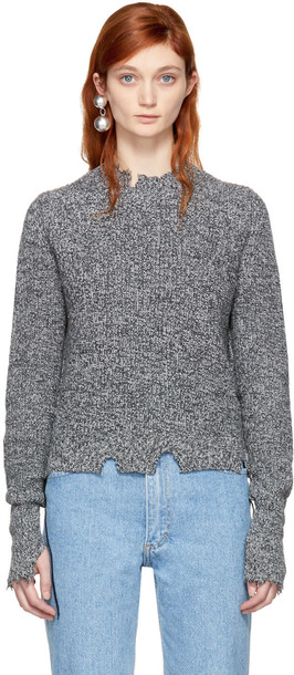 Helmut Lang pullover grunge grey sweater