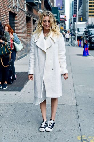 coat sneakers kaley cuoco shoes