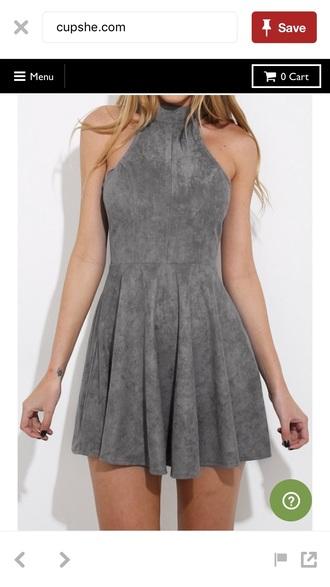 dress suede halter top