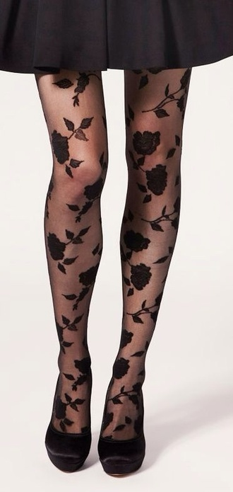 tights roses girly wishlist shoes