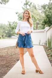 a lonestar state of southern,blogger,shorts,shirt,t-shirt,bag,shoes,jewels,sandals,summer outfits,blue shorts