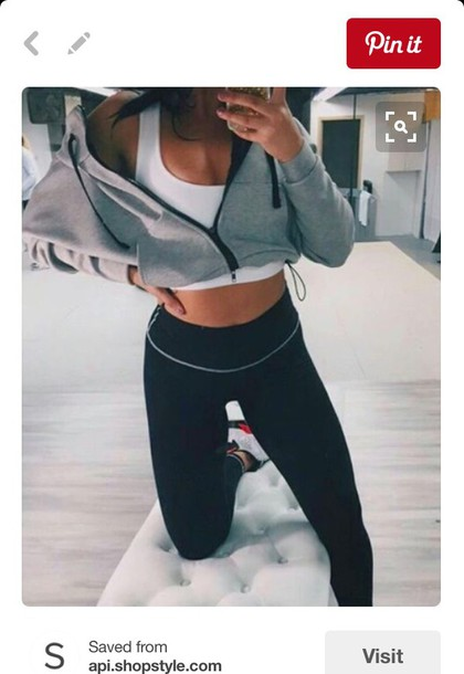8a41503829 jacket grey hoodie cute leggings workout workout leggings lazy day workout  jacket cool outfit